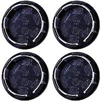 Cubierta de buje para ruedas, 4 tapas de llantas universales de 50 mm, para tapacubos de rueda de coche, color negro