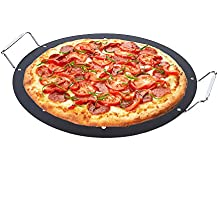 15-inch BBQ Pizza Pan, Arctic Monsoon, Non-stick Safety Coated Thick Gauge Cold Rolled Steel Material Grill Topper Pizza Stone, Black by ARCTIC
