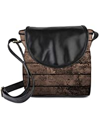 Snoogg Old Wood Textures Womens Sling Bag Small Size Tote Bag