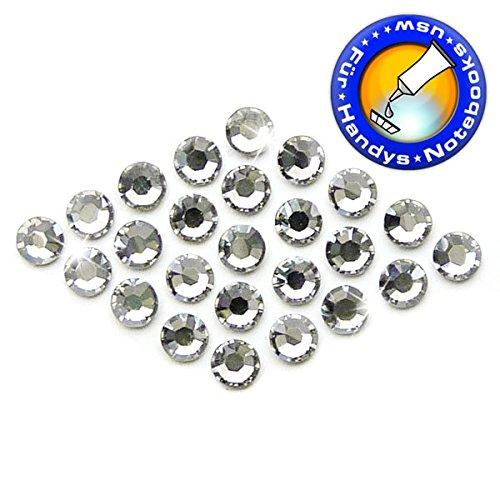 Ss30 Crystal (25 Stück SWAROVSKI ELEMENTS 2058 KEIN Hotfix, Crystal Silver Shade, SS30 (Ø ca. 6,4 mm), Strasssteine zum Aufkleben)