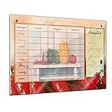 Memoboard 80 x 60 cm, Planer - Gemüse - Memotafel Pinnwand - Essenplaner - Übersicht -Wochenplaner - Kochen - essen planen - Familienplaner - Küche - Flur - Wohnzimmer - Esszimmer - Familie