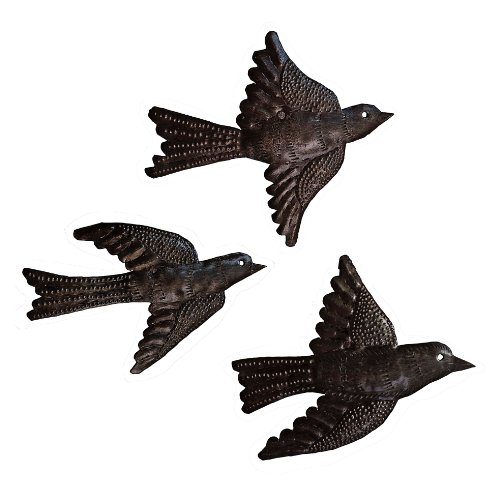le-primitif-galleries-haitian-recycled-steel-oil-drum-outdoor-decor-65-by-5-inch-three-piece-bird-se