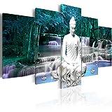 murando - Bilder 200x100 cm - Vlies Leinwandbild - 5 Teilig - Kunstdruck - modern - Wandbilder XXL - Wanddekoration - Design - Wand Bild - Abstrakt Natur Landschaft Buddha Wasserfall Baum Wald h-C-0048-b-o
