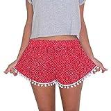 Malloom® Polka Dot Femmes Shorts Taille Haute Tassel Eté Casual Pantalons Courts Nouveau