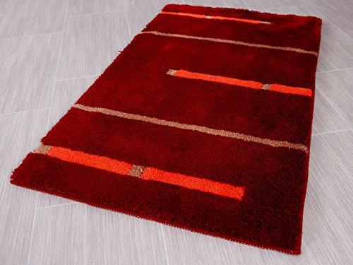 Pacific Badteppich Kabara Rot Streifen in 5 Größen