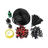 30 ugellia goccia da 25m Codomoxo® fai da te per irrigazione giardino, irrigatore a goccia per piante da serra, kit sistema di irrigazione a goccia
