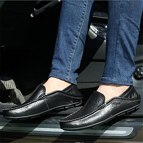 HENGJIA Herren Klassische Loafers Freizeitschuhe Schlupfhalbschuhe Bequeme Fahrerschuhe 20138 Schwarz