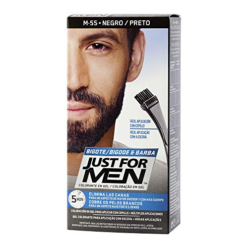 JUST FOR MEN Colorante en gel bigote barba y patillas - Tinte para las canas de...