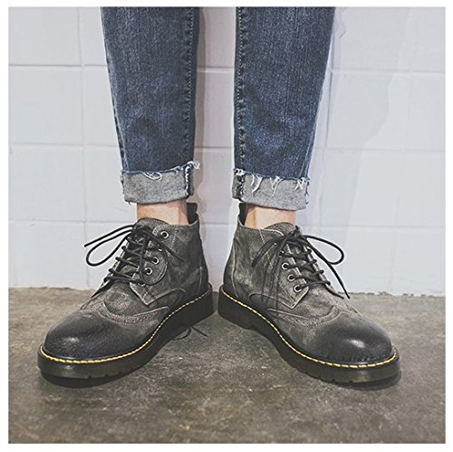 HL-PYL-Nuovo Mens scarpe di alta Martin stivali scarpe scarpe. gray