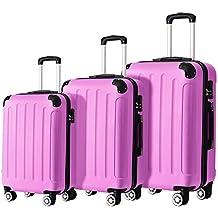 PINK Hartschale Reise Koffer Trolley Gepäck Reisekoffer 4 Räder Größe L