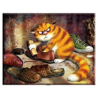 Dmc,Cross-Stitch,Full Embroidery,Shoe-Shining Cat,Anima,White Canvas 40x50cm,Cotton Thread,DIY,Needlework,Kits,Home Decor