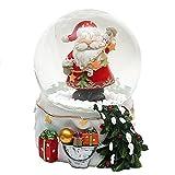 Bellisima palla di vetro con neve, Disegno: Babbo Natale, circa 9 x 7 cm / Ø 6,5 cm