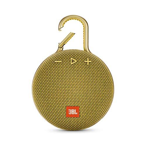 JBL Clip 3 Mono Tragbare Lautsprecher, 3,3W, Gelb Mono Clip