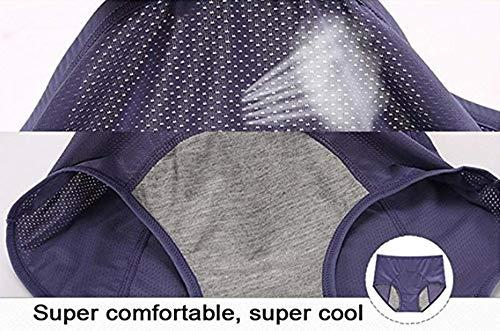 KEALLI Damen Taillenslip Gr. L, Black&deep Purple&Blue - 4