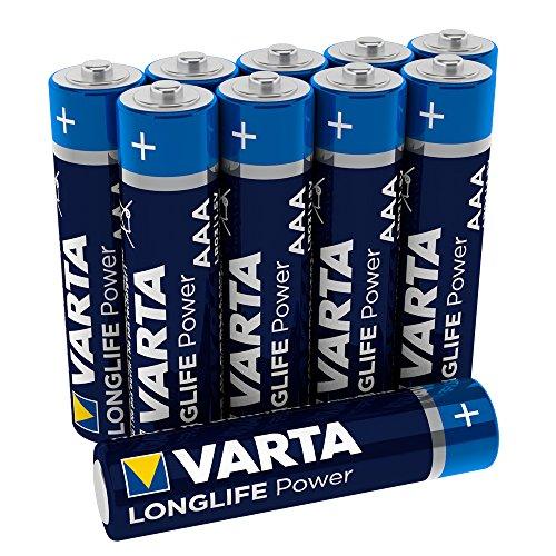 Varta Longlife Power Batterie AAA Micro Alkaline Batterien LR03-10er Pack (Design/Produktname kann abweichen) (Industrial Controller)