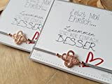 Mutter & Tochter Symbol für unendliche Liebe Set Freundschaftsarmband, Geschenkideen, Handmade, izel, iz-el, stretch armband, karten, schwester, trauzeugin, Bedeutung