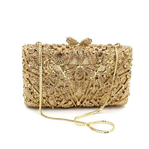 Borsa Di Cristallo Oro Borsa Da Sera Di Lusso Del Diamante Delle Donne Gold