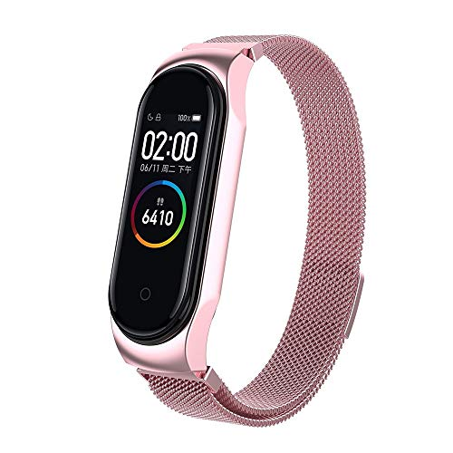 VithconlMilanese Magnetic Loop Wrist Strap Metall-Armband für Xiaomi Mi Band 4 Uhr (D)