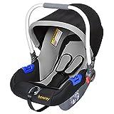 Besrey® Gruppe 0+ Kinderautositz Babyschale Babytrage (0-13 kg, 0-1 Jahre) nach ECE R44/04 - Schwarz&Grau