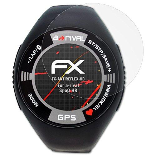 atFoliX Schutzfolie kompatibel mit a-Rival SpoQ HR Displayschutzfolie, HD-Entspiegelung FX Folie (3X)
