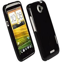 igadgitz Negro Case TPU Gel Funda Cover Carcasa para HTC One X S720e Android Smartphone + Protector de pantalla (NO es adecuado para HTC One M7)
