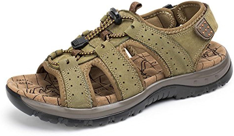 LEDLFIE Sandalen Strand Schuhe Männer Low Cut Outdoor Freizeitschuhe Khaki 41LEDLFIE Sandalen Low Cut Freizeitschuhe Khaki 41