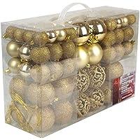 Unbekannt Christmas Gifts Palle di Natale, in plastica, Plastica, gold, 100x