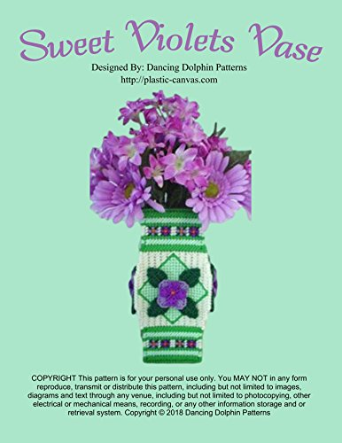 Sweet Violets Vase: Plastic Canvas Pattern (English Edition)