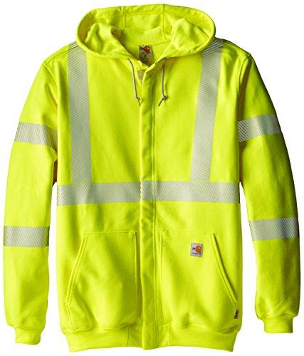 Carhartt Men's Big & Tall Flame Resistant Heavyweight High Visibility Sweatshirt,Brite Lime,XXX-Large (Carhartt Heavyweight Sweatshirt)