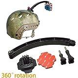 #7: 360 Degree Rotating Helmet Mount Extension Arm 3M Adhesive Sticker for XIaomi Yi Gopro Hero 4 3, SJCAM