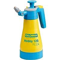 GLORIA Drucksprüher Hobby 125 FLEX | Gartenspritze | Handsprüher | 1,25 L Füllinhalt | Mit Gelenkdüse und 360…