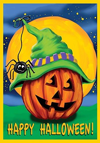 Toland Home Garten Halloween Hitcher 31,8 x 45,7 cm Deko Jack o Laterne Kürbis Spinne Garten Flagge