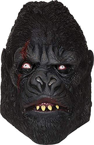 erschreckend Zombie Kostüm Party Zubehör mit Kapuze Gummimaske - Gorilla Maske, One size, One size ()