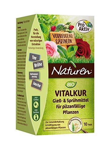 Naturen Bio Vitalkur Pflanzenstärkungsmittel zum gießen und sprühen für pilzanfällige Pflanzen mit Kräutermischung, 10 Pads - Tee Pflanze