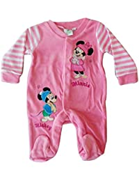 Mickey Mouse & Minnie Mouse Strampler | 4 Farben, Größen 50-80 | Disney, Mickey Mouse, Minnie Mouse, Strampler