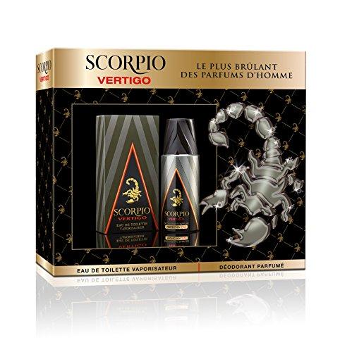 Scorpio Coffret Homme 2 Produits Vertigo Eau de Toilette Flacon 75 ml/Déodorant Atomiseur 150 ml