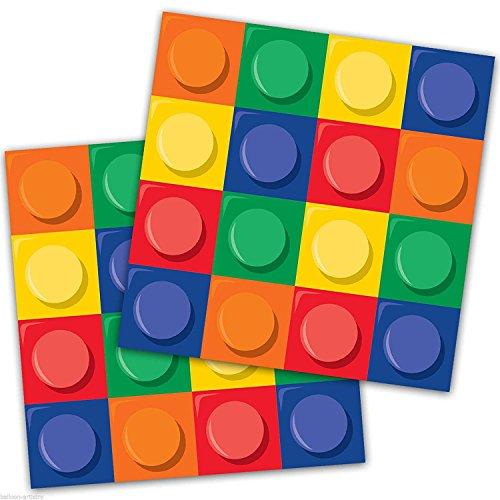 3XBuilding Block Party Napkins P...