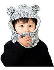 Lora&Chat Mixte Cagoule Ajustable Chaud Enfant Fille Garçon Bébé Protection Tour de Cou Visage Oreilles 3-5ans