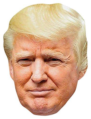 Star Cutouts SM251 Spaß-Maske Donald Trump, Karton Tolles Gesprächsthema, Spaßig für Partys und Veranstaltungen. -