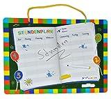 abwischbarer Stundenplan mit Folienstift - für die Schule - buntes Buch - Schulanfang Schulstunden