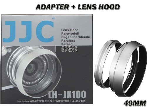 jjc-lh-jx100-lens-adapter-and-hood-for-fujifilm-finepix-x100-x100s-x100t-x70-silver