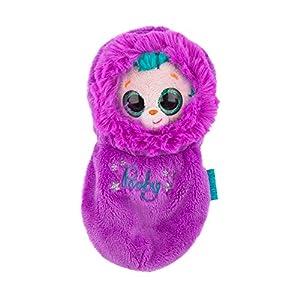 Ylvi & die Minimoonis - Peluche Pooby con Saco de Dormir de 19 cm, Color púrpura (6123.004)