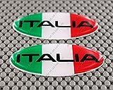 Ovaler, gewölbter 3D-Aufkleber mit Italien-Flagge