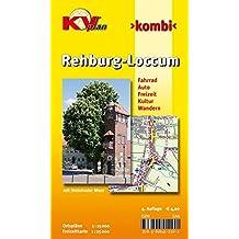 Rehburg-Loccum: 1:15.000 Stadtplan mit Freizeitkarte (1:25.000) inkl. Radrouten und Wanderwegen (KVplan Münsterland-Region / http://www.kv-plan.de/Muensterland.html)