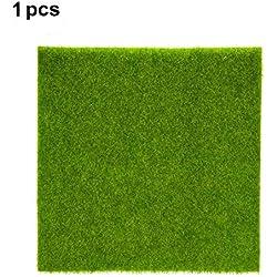 Hierba artificial de hierba hierba de césped de plástico interior al aire libre hierba sintética verde de micro ornamento de paisaje decoración del hogar ( Size : 30cm X 30cm )
