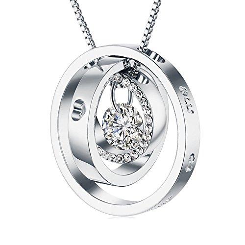"♥Ewige Liebe♥ 925 Sterling Silber Halskette ""I Love You"""