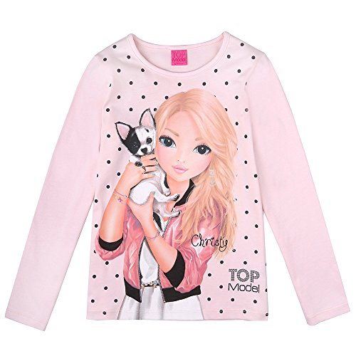 Top Model Mädchen Langarm Shirt Christy 85030 Rosa (164)
