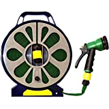 Green Blade - Manguera plana con difusor de spray (15 m, en bobina fácilmente enrollable, 7 funciones)