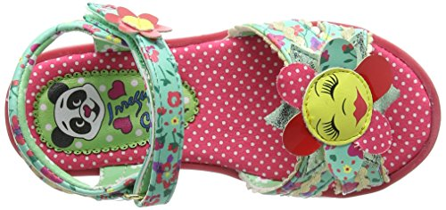 Irregular Choice Flower Face, Sandales  Bout ouvert fille Multicolour (Blue/Pink)