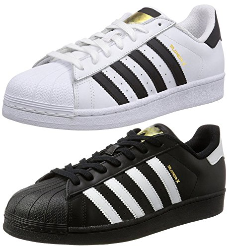 Ethics Perfect Combo Pack of 2 White & Black Superstar Sneaker Shoes for Men (6)